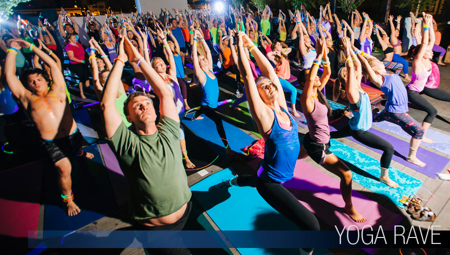 Yoga Rave Event Photos Downtown Tucson Arizona