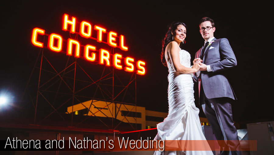 Athena and Nathan Hotel Congress Wedding
