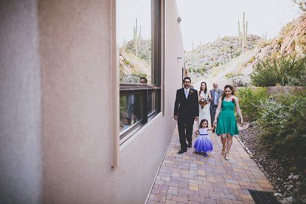tucson wedding procession photo