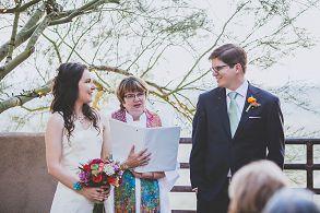 tucson bride and groom wedding ceremony