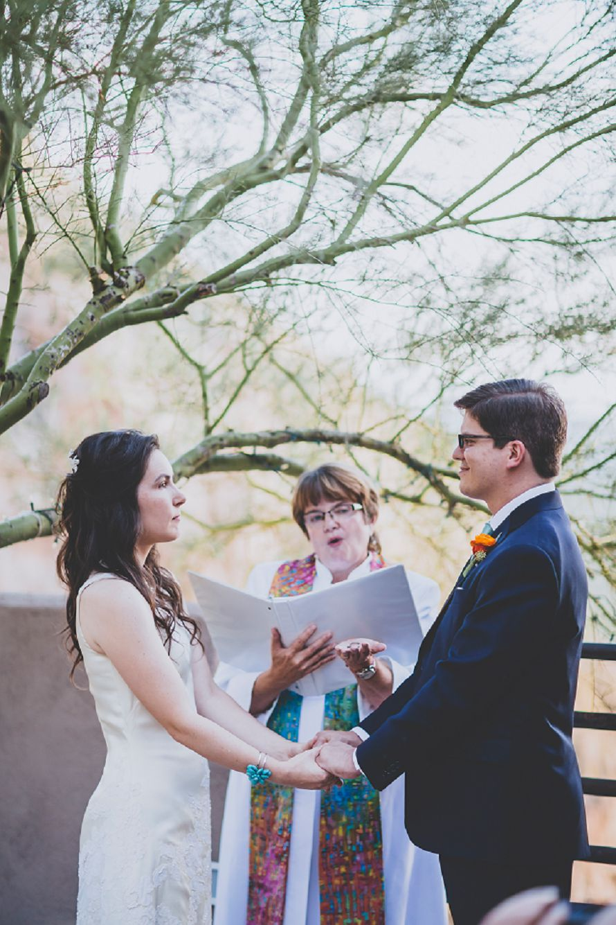 tucson bride and groom ring exchange