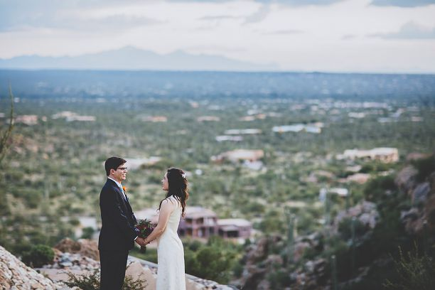 arizona bride and groom portrait