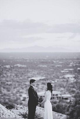 tucson arizona wedding couple