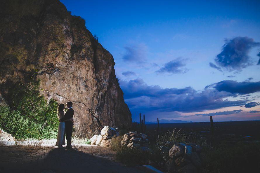 arizona wedding sunset