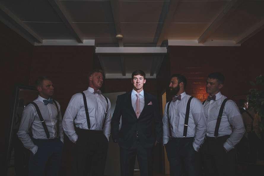 Groomsmen on a Tucson Arizona Wedding day